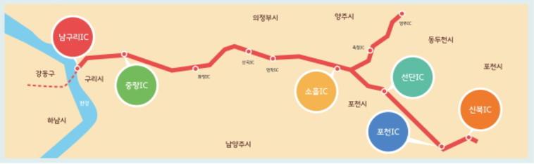 구리-포천 민자고속도로 준공 (2018/6/30)